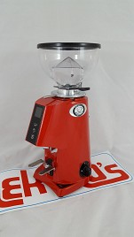 Coffee grinder FIORENZATO F4 E NANO Red TOUCHSCREEN Display Hopper 250 gr.