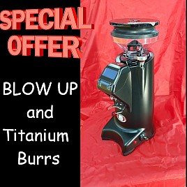 EUREKA Grinder OLYMPUS 75 E HS BLACK hi-speed TITANIUM burrs Blow Up