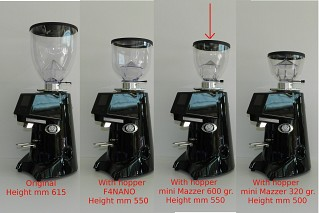 Hopper Mazzer Mini 600 gr. (702342) + Adapter O'ring