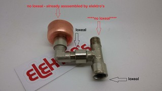 Kit anti vacuum valve + T fitting