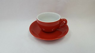 Coffee cup and saucer IPA Milano Red